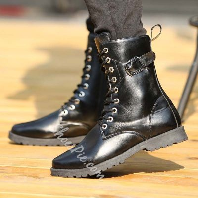 Shoespie Black Fashion Oxfords