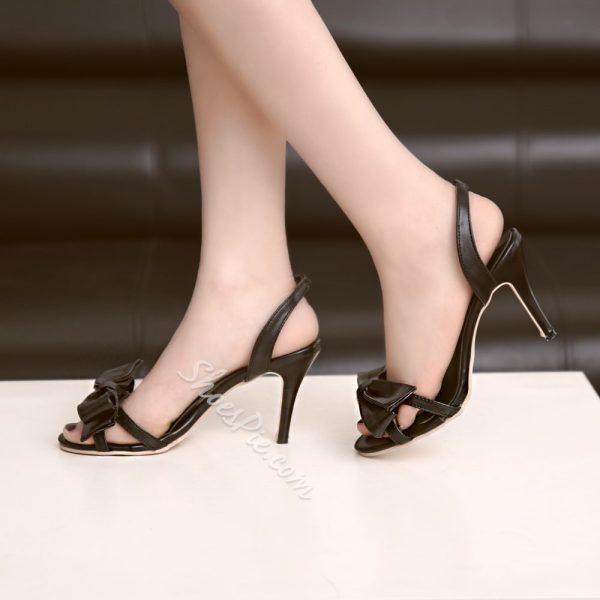 Shoespie Bowtie Dress Sandals