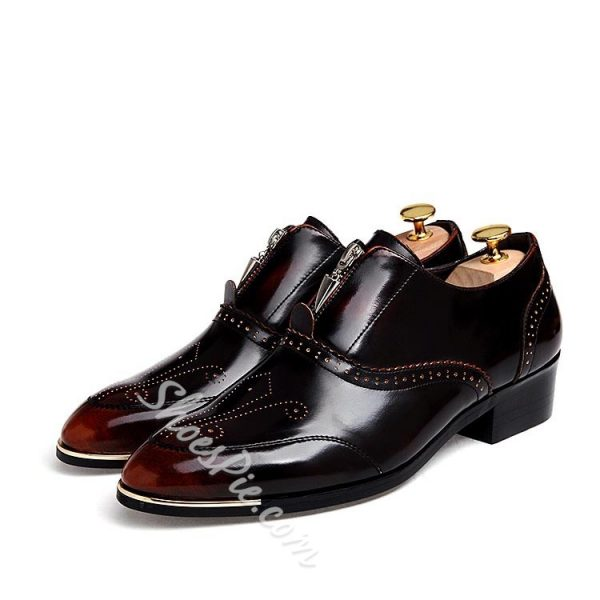 Shoespie Brushed Toe Semi Carving Men's Brogue Shoes