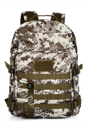 Shoespie Camouflage Zipper Canvas Backpack