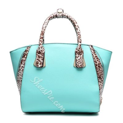 Shoespie Chic Color Block Tote Big Handbag
