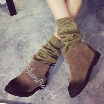 Shoespie Chic Flat Boots
