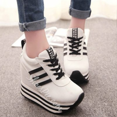Shoespie Chic Stripes Sneakers