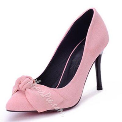 Shoespie Classy Sweet Bowtie Stiletto Heels