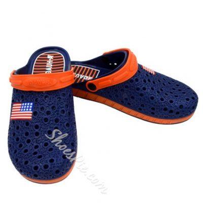 Shoespie Contrast Color Hollow Men's Slipper