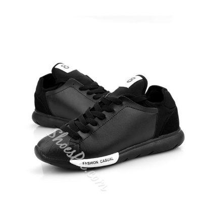 Shoespie Contrast Color Lace Up Men Sneakers