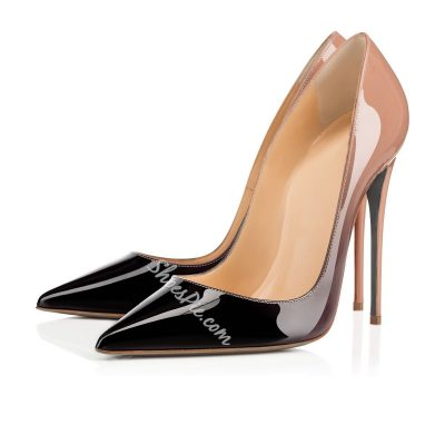 Shoespie Contrast Color Pointed-toe High Heel Stiletto Heels