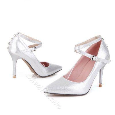 Shoespie Cross Strap Stiletto Heels
