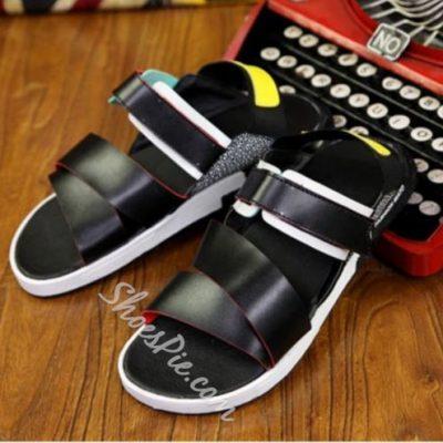 Shoespie Cut-Outs Flat Heels Men's Sandals