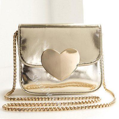 Shoespie Cute Heart Chain Bag