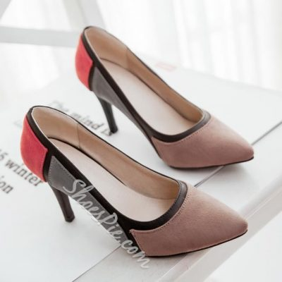 Shoespie Elegant Color Block Stiletto Heels
