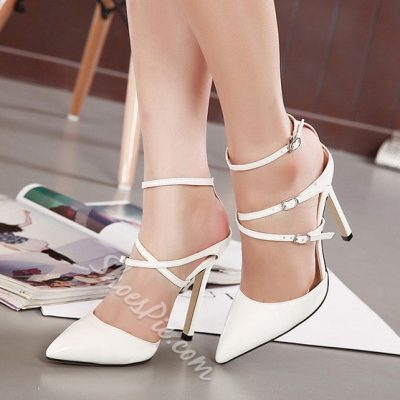 Shoespie Elegant Pointed Toe Strappy Stiletto Heels