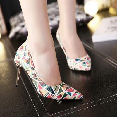 Shoespie Elegant Print Stiletto Heels