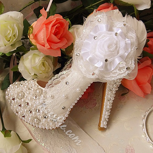 Shoespie Flower Bridal Shoes
