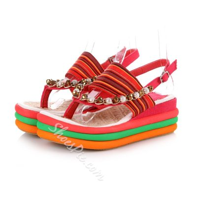 Shoespie Folk Style Wedge Sandals