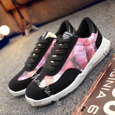 Shoespie Geometric Print Men's Sneakers