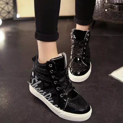Shoespie Golden Lace-up Sneaker