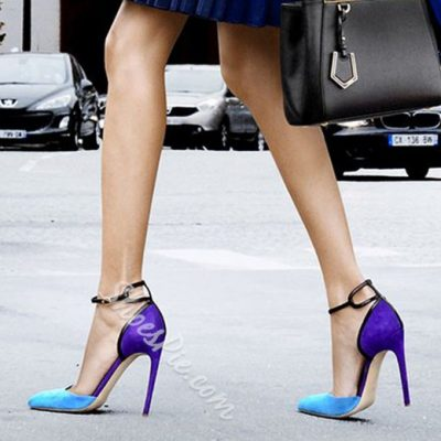 Shoespie Gorgeous Favorite Night Club Contrast Color Stiletto Heels