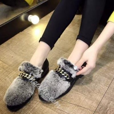 Shoespie Gorgeous Furry Loafers