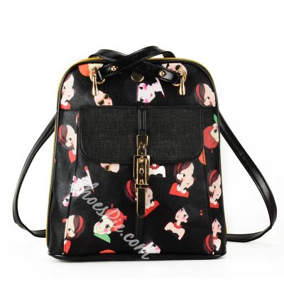 Shoespie Gorgeous Printed Buckle Backpack