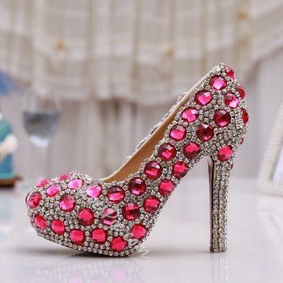 Shoespie Gorgeous Rhinestone Bridal Shees