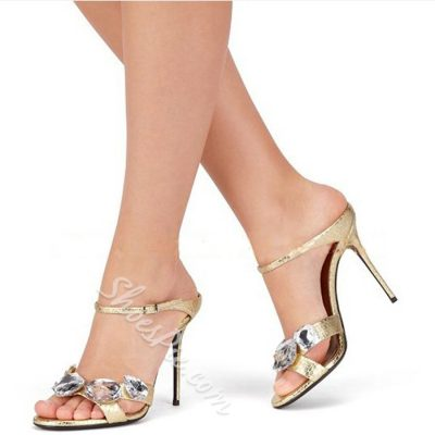 Shoespie Huge Rhinestone Mules
