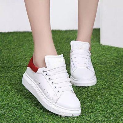 Shoespie Lace Up Flat Canvas Shoes
