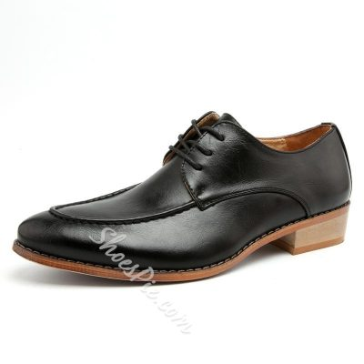 Shoespie Lace Up Men Leather Shoes