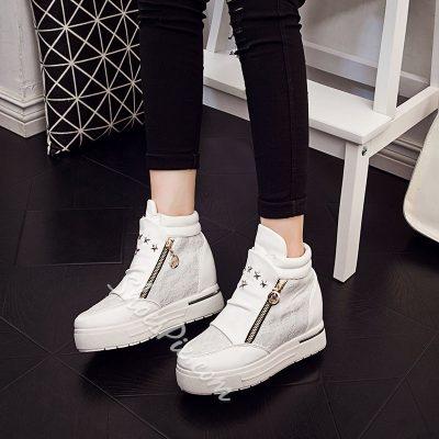 Shoespie Lace Zipper Sneaker