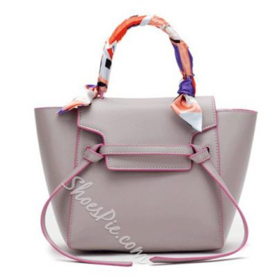 Shoespie Leather Tote / One Shoulder Handbag