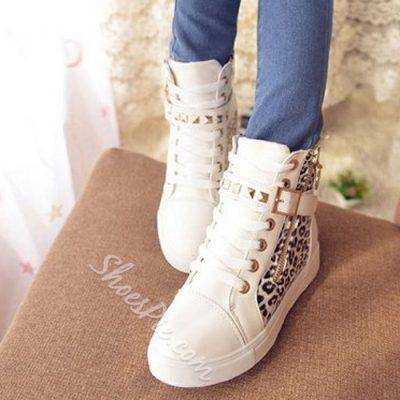 Shoespie Leopard Buckle Sneaker