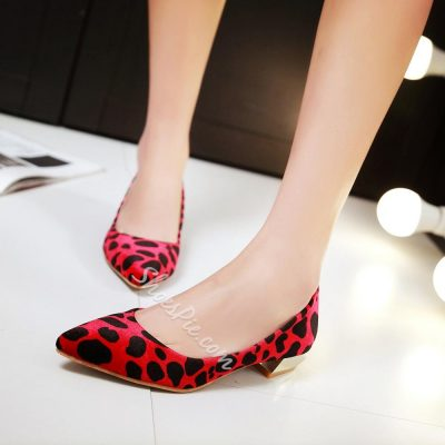 Shoespie Leopard Print Pointed Toe Flats