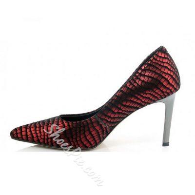 Shoespie Luxurious Alligator Pattern Stiletto Heels