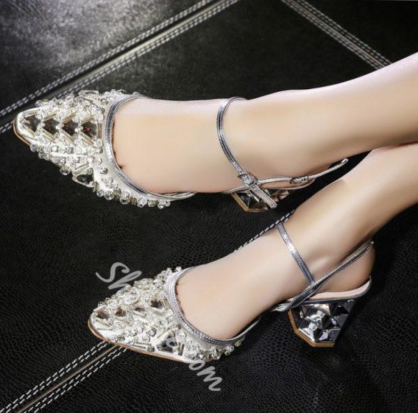 Shoespie Luxurious Chunky Heels