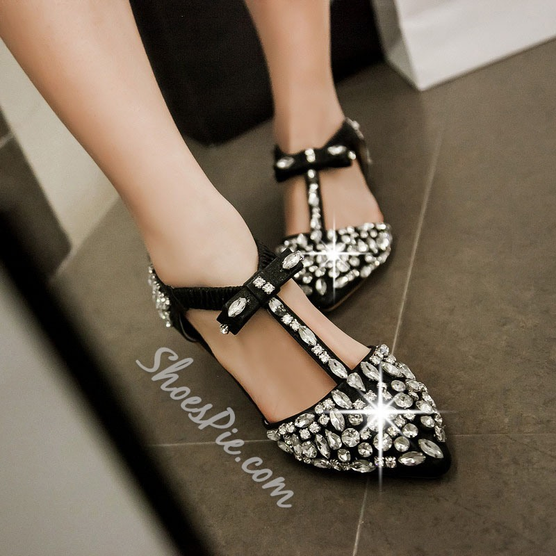 Shoespie Luxurious Jewelled Loafers