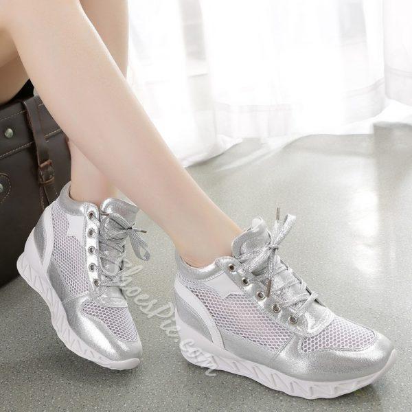 Shoespie Mesh White Sneaker