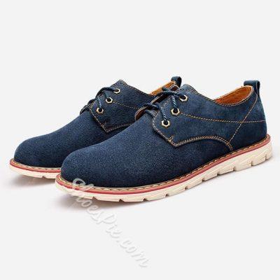 Shoespie Nubuck Treading Lace Up Men's Shoes