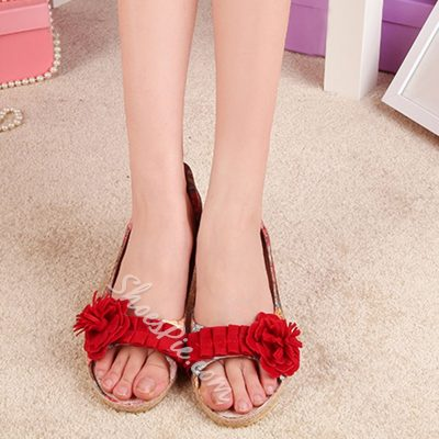 Shoespie Outdoor Printed Open Toe Loafers