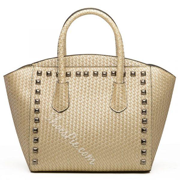 Shoespie PU Rivet Decorated Handbag