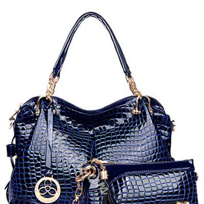 Shoespie Patent Leather One Shoulder Handbag