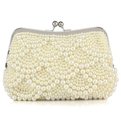 Shoespie Pearl Clutch Wedding Handbag