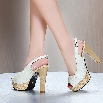 Shoespie Peep Toe Slingbacks