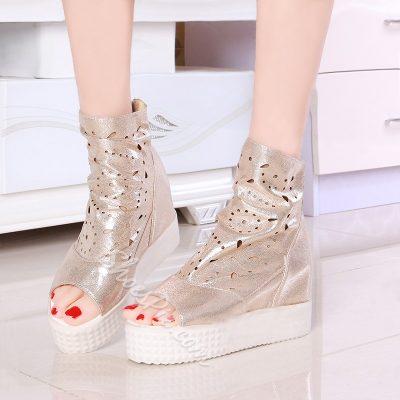 Shoespie Peep toe Ankle Sneaker