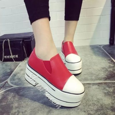 Shoespie Platform Slip-on Loafers
