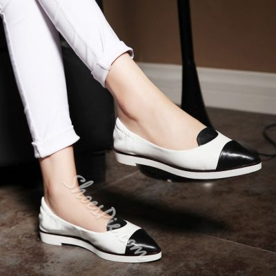 Shoespie Point Toe Slip-on Flats