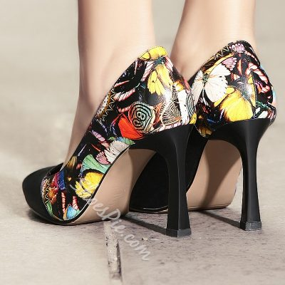 Shoespie Print Stiletto Heels