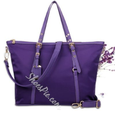 Shoespie Pure Color Metal Decorated Handbag