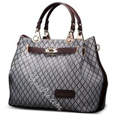 Shoespie Rhombic Large Tote Bag