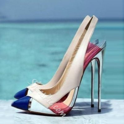 Shoespie Sexy Contrast Color Stiletto Heels