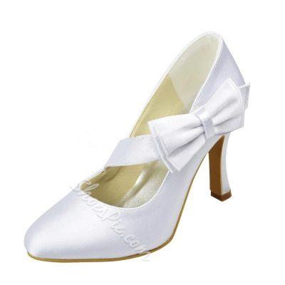 Shoespie Silk Side Bowtie Bridal Shoes